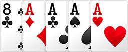 Комбинация в покере - Каре.