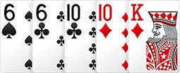 Комбинация в покере - Две пары.