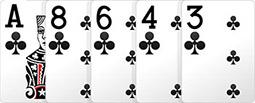 Комбинация в покере - Флэш.
