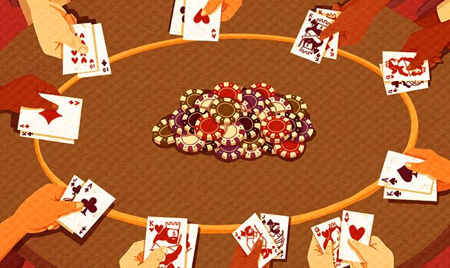 Стратегия игры за столами в Limit Holdem с 10 игроками.
