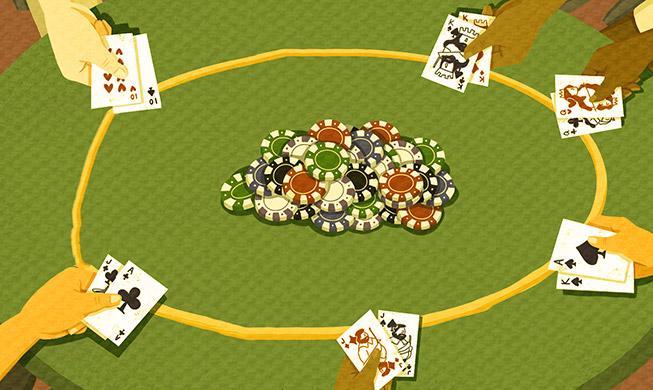 Стратегия игры за короткими столами в Limit Holdem с 6 игроками.