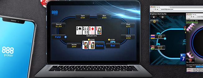 игрвой клиент для компьютера, планшета, мобильного и в браузере от 888poker.