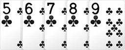 Комбинация в покере - Стрит-Флэш.