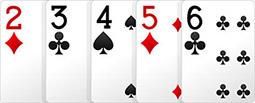 Комбинация в покере - Стрит.