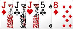 Комбинация в покере - Тройка.