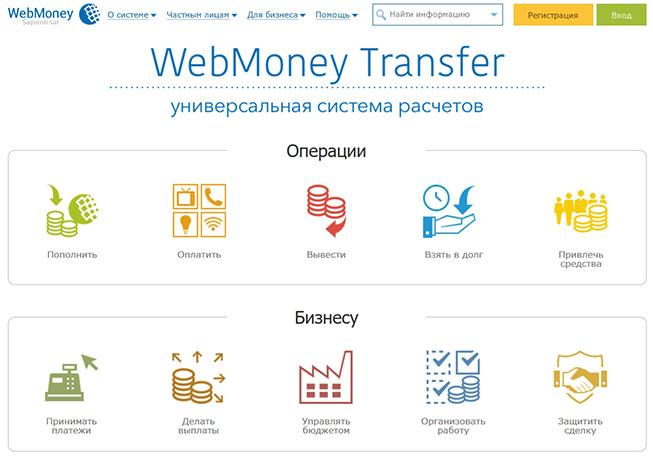 Сайт платежной системы Webmoney.